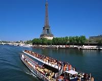 パリ/エッフェル塔とセーヌ河(フリータイム・イメージ)