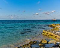 昼のカリブ海