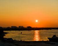 カリブ海の夕日(イメージ)