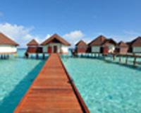 web限定! 燃油込 シンガポール航空利用 オールインクルーシブで楽々滞在! 憧れリゾート モルディブの休日 4泊6日 水上飛行機利用 サン・アクア・ヴィルリーフ(リーフヴィラ)